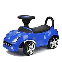 Kids Racing Ride On Car Push & Pull Toy in Blue