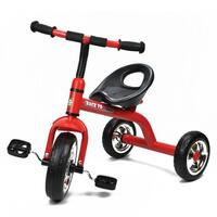 Grow With Me Kids Tricycle with Wide Wheels in Red