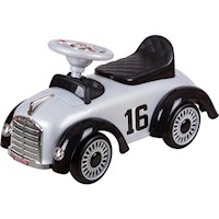 Kids Classic Retro Speedster Ride On Car in Grey
