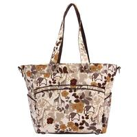 Bellotte Baby Nappy Bag Tote with Brown Florals