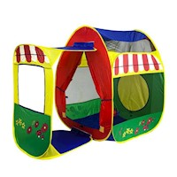 Kids Cottage Garden Play Tent w Large Mesh Windows