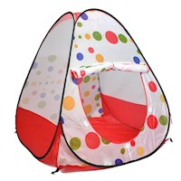 Kids Polka Dot Pop Up Play Tent Cubby House - White