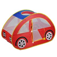 Kids Hideaway Car Play Tent w/ Mesh Windows in Red