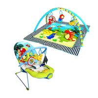 2pc Baby Discovery Dinosaur Floor Mat & Bouncer Set