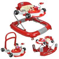 4-in-1 Baby Walker Play Centre Red F1 Racing Theme