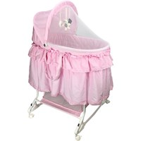 Aussie Baby Deluxe Newborn Rocking Bassinet in Pink