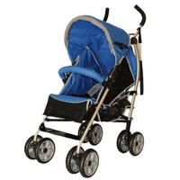 Aussie Baby Travel Easy Layback Pram Blue & Black