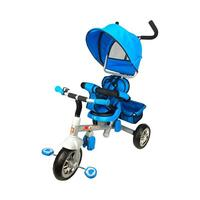 Reverse Seat Kids Tricycle w/ Parent Handle in Blue