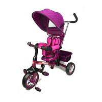 Reverse Seat Kids Tricycle w/ Parent Handle Purple