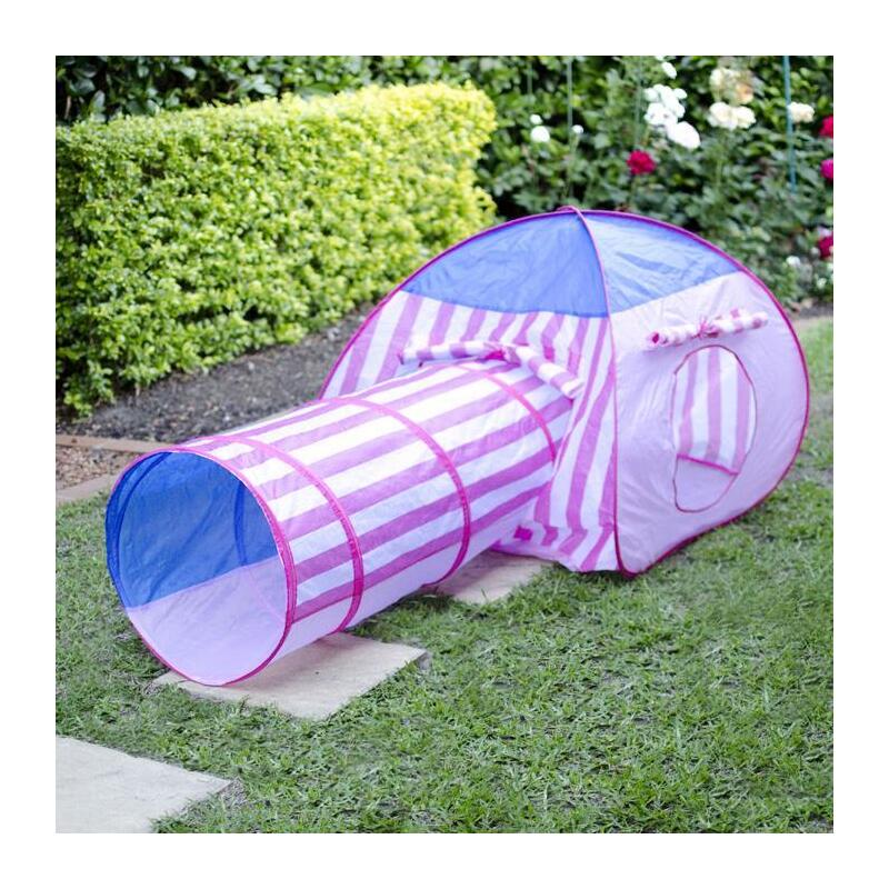 h m s Remaining. Pink Stripe Pop Up Tent ... & Pink Stripe Pop Up Tent with Crawl Tunnel | Buy Kids Pop Up Tents ...