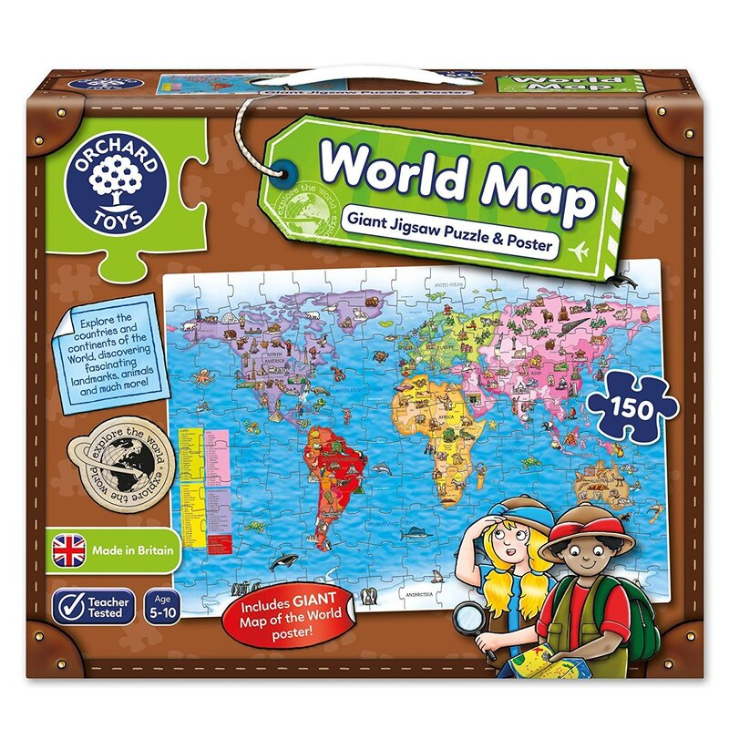 Orchard jigsaw world map puzzle poster 150pc buy jigsaw puzzles orchard jigsaw world map puzzle poster 150pc gumiabroncs Images