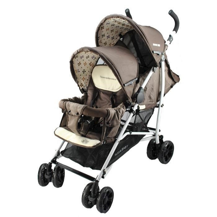 Vitesse Deux Tandem Stroller Brown Buy Prams