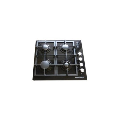 4 Burner Natural Gas Glass Cook Top in Black