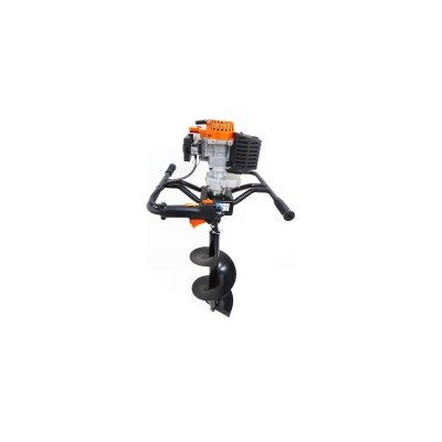 Petrol Post Hole Digger and Auger w/ 4 Bits 82cc