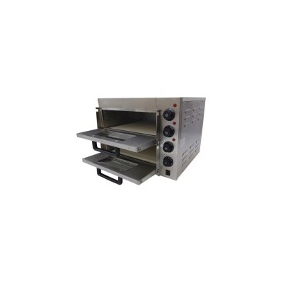 Twin Deck Stone Base Electric Pizza Oven 2.4kW