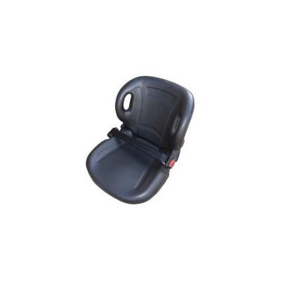 Forklift Seat with Retractable Seat Belt in Black