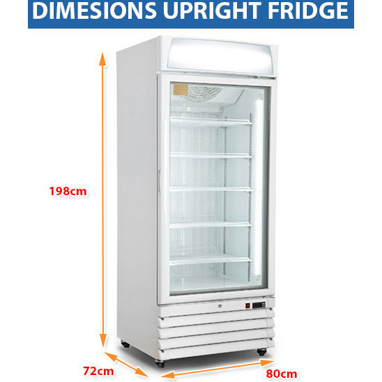 Lockable 1 Door Commercial Drink Fridge White 430l Buy