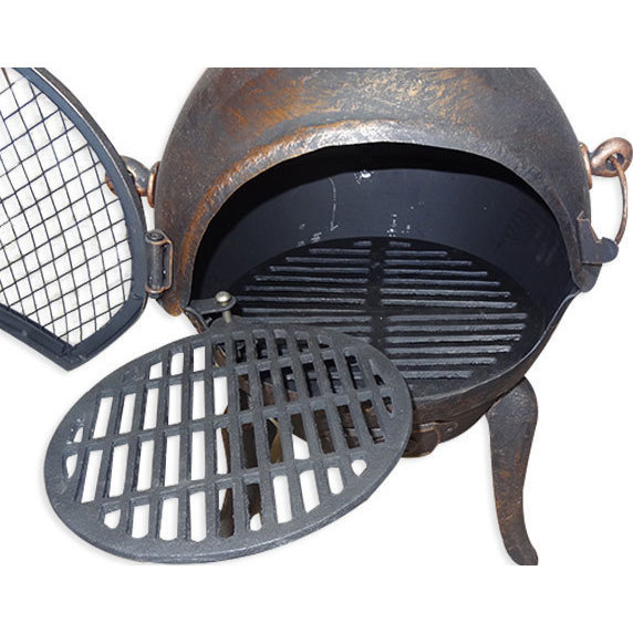 how to put the grill back into sercurity door
