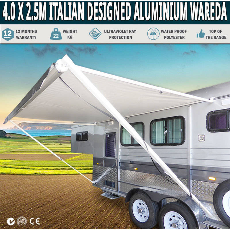 Retractable Roll Out Caravan Side Awning 4.0x2.5m | Buy ...