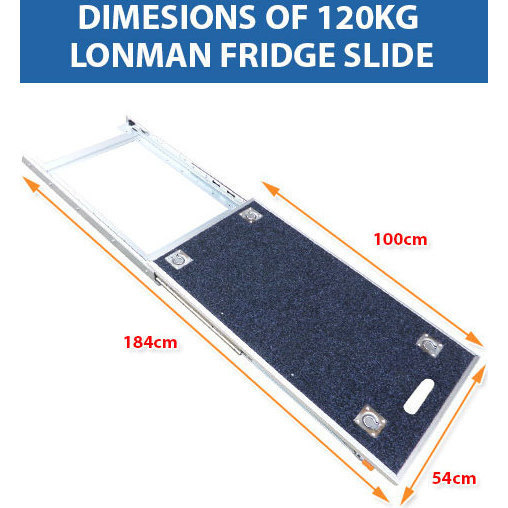 4wd Heavy Duty Locking Carpeted Fridge Slide 120kg Buy
