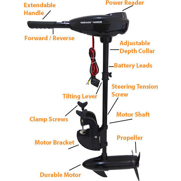 Quiet Electric Outboard Trolling Motor Engine 86lb Buy