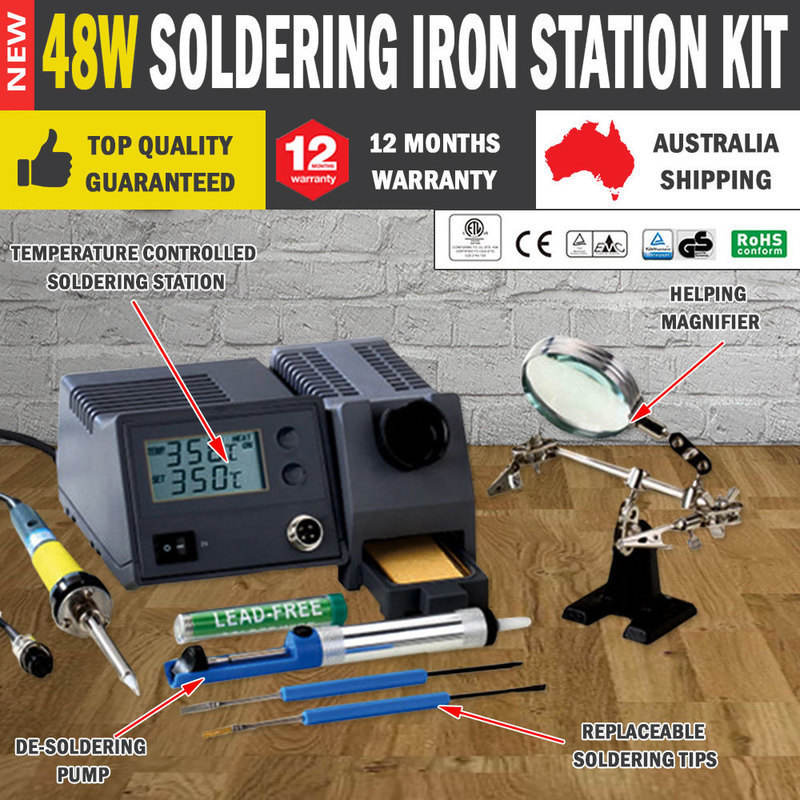 temperature controlled soldering iron station 48w buy soldering equipment. Black Bedroom Furniture Sets. Home Design Ideas