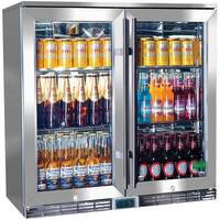 Rhino 2 Door Outdoor Glass Door Bar Fridge 210L