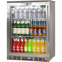 Rhino Left Hinge Heated Glass Door Bar Fridge 129L