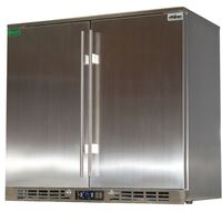 Rhino Stainless Steel Double Door Bar Fridge 208L