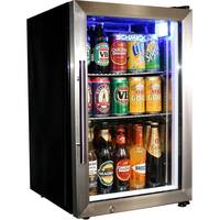 2 Shelf Lockable Glass Door Mini Bar Fridge 68L