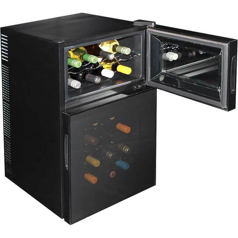 Quiet Dual Zone Mini Wine Fridge W Led Screen 44l Buy