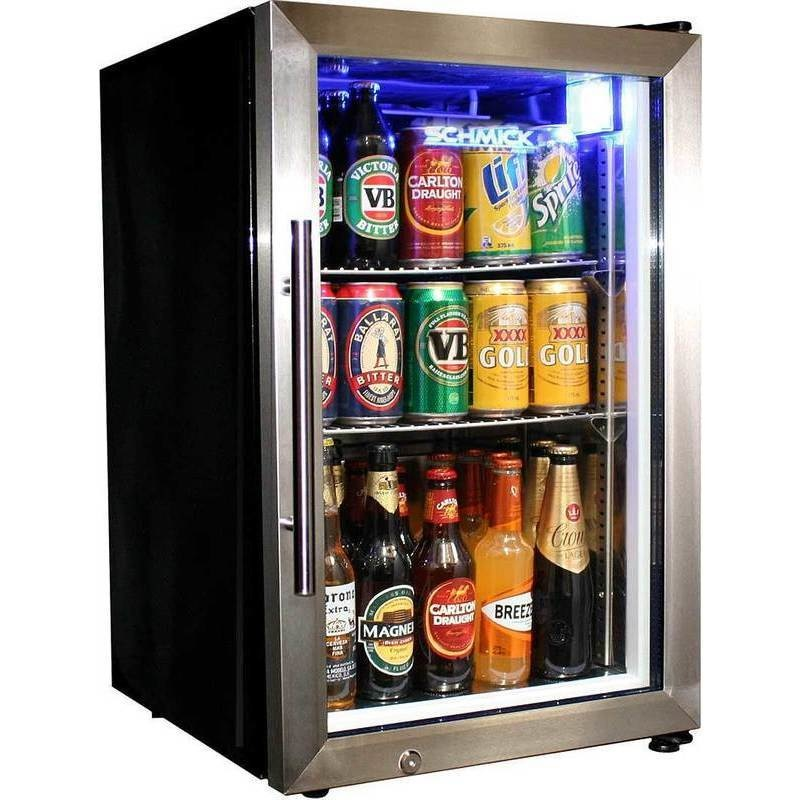 2 Shelf Lockable Glass Door Mini Bar Fridge 68l Buy Bar Fridges