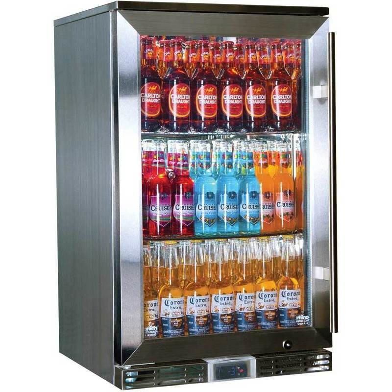 Rhino Left Outdoor Glass Door Commercial Bar Fridge Buy Bar
