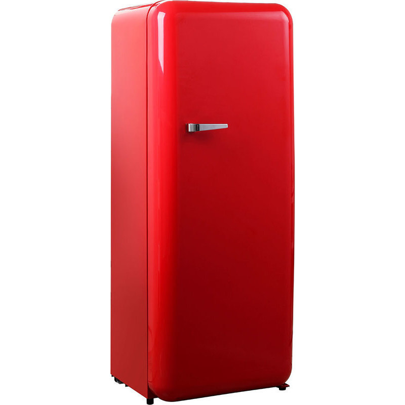 Vintage Fridge: Tall Adjustable Vintage Fridge In Retro Red 208L