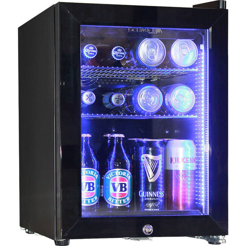 Schmick Glass Door Mini Bar Fridge In Black 23l Buy Bar Fridges