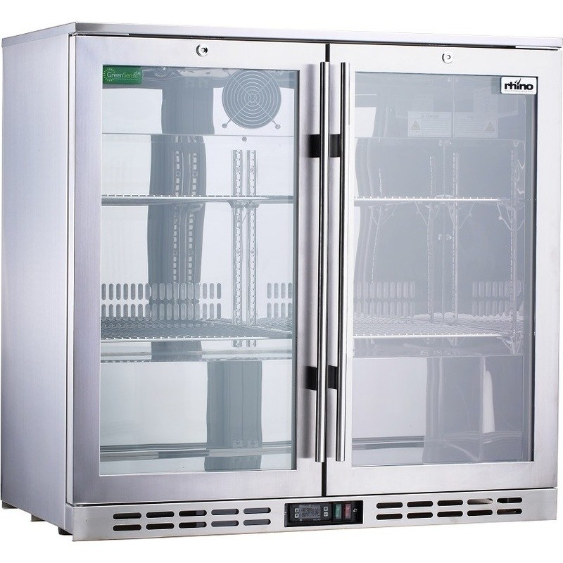 Rhino S Steel Glass Door Commercial Bar Fridge Buy Bar
