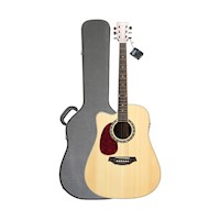 Artist Left Hand Acoustic Electric Guitar w/ Case