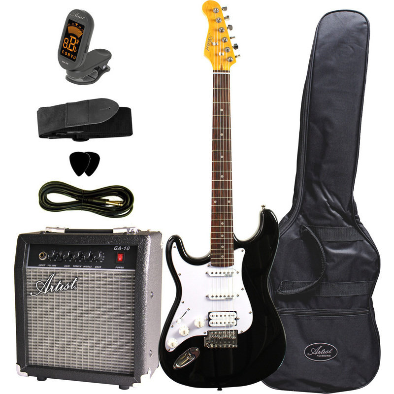Artist Sth Left Hand Electric Guitar With Amp Black Buy