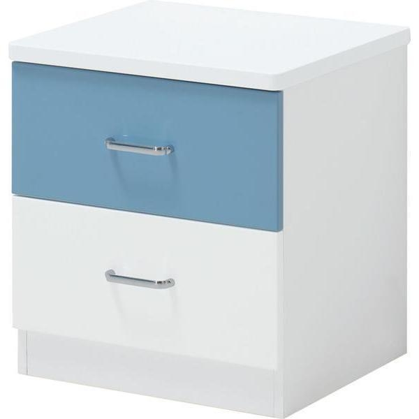 blue lover kids bedside table nightstand w 2 drawer | buy kids