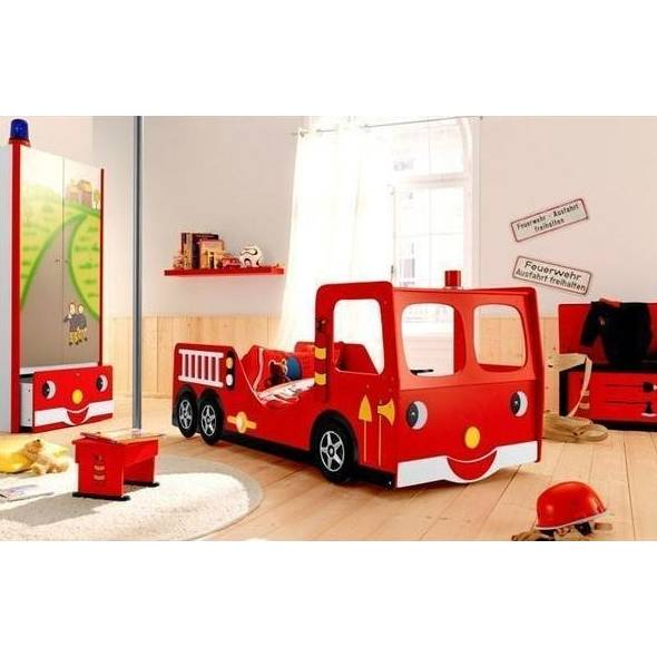 Fire Truck Engine Single Novelty Kids Bed in Red | Buy ...