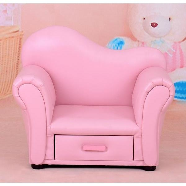 Kids Single Seat Faux Leather Sofa W Drawer Pink Buy