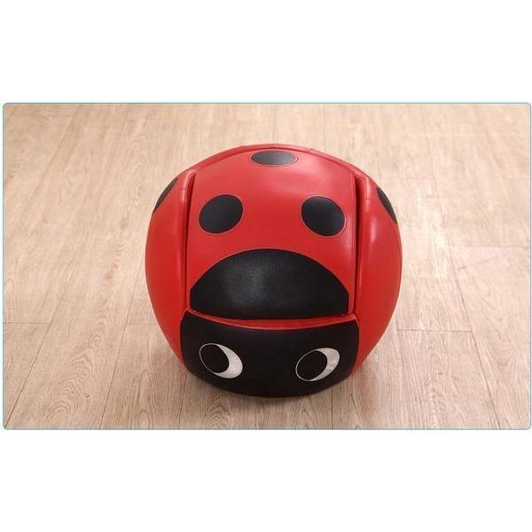 Kids Faux Leather Ladybug Chair with Footstool : Buy Kids ...