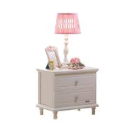 Jasmine Girls Bedside Table with 2 Drawers in Beige