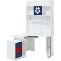Sailor Kid's L Shaped Corner Computer Desk in White