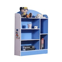 6 Shelf Kids Bookshelf in Blue and White 107cm