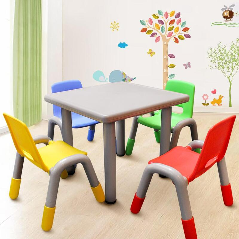 Fantastic 1 02 Kids Toddler Table And Chair Set With Adjustable Height Mixed Colour Interior Design Ideas Gresisoteloinfo