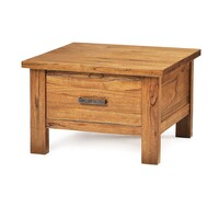 Broken Hill Timber Side Table w/ Drawer Rough Sawn