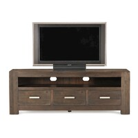 Eldorado 3 Drawer Solid Acacia Wood TV Unit Brown