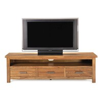 Broken Hill Open Shelf TV Unit with 3 Drawers 1.74m