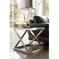 Coylin Modern Bevelled Glass Top Lamp Side Table